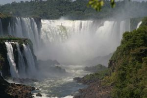 Iguazu Fall (Argentina and Brazil) - See the people on the left for scale.