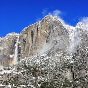 Yosemite Falls with Blue Sky