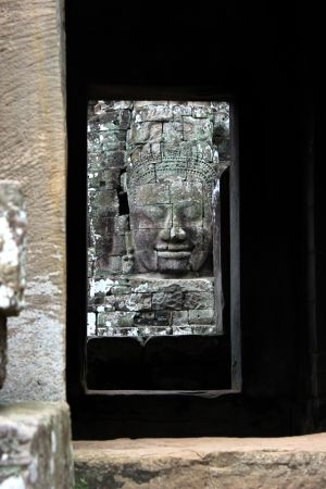 Window at Bayon