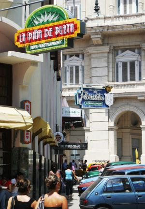 La Floridita - Paying homage to Hemmingway. This was one of his favorite night spots in Havana.