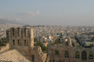 Odeon of Herodes Atticus (161 AD) - This 5000-seat amphitheater improved on the adjacent Theater of Dionysius.
